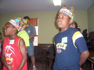 Cecil and Jermaine praising the King